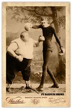 FAT BOY & SKINNY MAN BOXING MATCH ca.1875 PT Barnum Circus Sideshow
