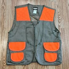 SafTBak Mens Hunting Vest Khaki Blaze Orange Size XL Quilted Outdoors