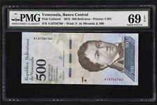 2016 Venezuela Banco Central 500 Bolivares PickUnlisted PMG 69EPQ Superb Gem UNC