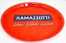 "Ramazzotti, Serviertablett, Rundtablett, transparent, ""Leben, Lieben.."" rot."