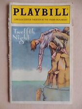 July 1998 - Vivian Beaumont Theatre Playbill w/Ticket - Twelfth Night - Hunt