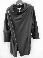 kuschelweiche Sweatshirt-Jacke Kapuze schwarz von DW-Empire EG 42 44 46 48 NEU