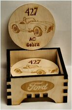 AC Cobra 427 FORD Wood Coaster set W/box