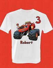 Personalized Custom Childrens Blaze and the Monster Machines Birthday T-Shirt