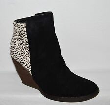 VERY VOLATILE CHATTER NEW SZ 10 M BLACK SUEDE CALF HAIR ANKLE BOOTS BOOTIES