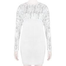 Thomas Wylde White Black Carpe Diem Silk Satin Empire Line Dress S UK8 US4