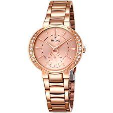 A Brand New Festina F16911/2 Ladies Rose Gold Tone  Dress Watch