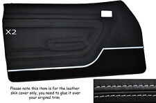 Gris Stitch 2x Frontal Puerta Tarjetas Cuero Skin Tapa se ajusta Ford Capri Mk3 Style 2