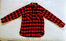 Vintage Mens Woolrich Red Black Buffalo Plaid Shirt Wool Blend Usa Size M