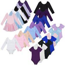 Toddler Girls Ballet Gymnastics Dance Basic Leotard Bodysuit Dancewear Costume