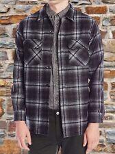 Pendleton Men's - Size Medium Fitted - Plaid Board Shirt Gray Black Plaid Nwt