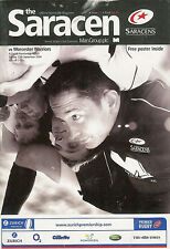 SARACENS v Worcester Warriors 12 Sep 2004   RUGBY PROGRAMME