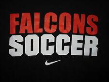 BOWLING GREEN FALCONS SOCCER T SHIRT Nike Tee BGSU University mac Black Adult SM