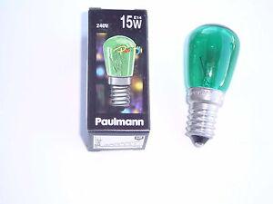 Paulmann Birnenlampe grün 800.13  15 Watt E14 240 V