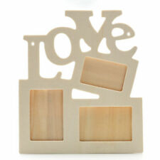Hot DIY Love Wood Hollow Out Photo Frame Wedding Anniversary Photos Holder