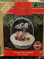 Hallmark Keepsake Ornament 1990 Series Forest Frolics Magic Light Motion Vintage