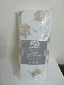 POTTERY BARN KIDS Star Wars The Child Fitted Crib Sheet NEW