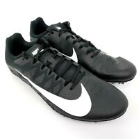 Nike Zoom Rival S 9 Mens Size 12 Black White Track Spikes Cleats Shoes 907564-00