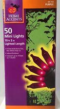 Home Accents 50 Purple Mini Lights Indoor/Outdoor Halloween Decoration