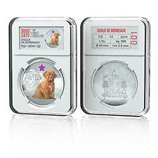 Fiji 2014 Dogs & Cats V My Great Protector - Dogue de Bordeaux Silver Proof Coin