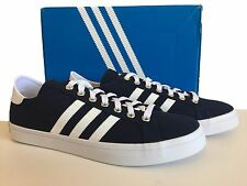 ADIDAS NAVY & WHITE COURT VANTAGE TRAINERS SIZE 12