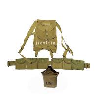 Relics WW2 US GI Solider Combat Equipment Set 1928 Haversack M1 Pouch Belt