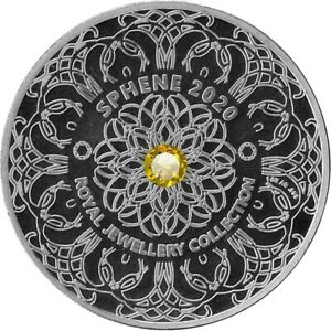 5 Cedis Ghana 2020 - 1 OZ Royal Jewellery Collection mit Sphen