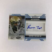 2020 Hit Premier Draft Davion Taylor A55 Rookie Auto Colorado Buffalo