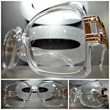 CLASSIC VINTAGE RETRO Style Clear Lens EYE GLASSES Transparent & Rose Gold Frame