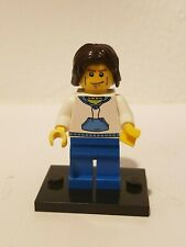 authentic LEGO minifigure Dude White Hoodie cty0190 city town 8404