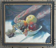 MAURICE STERNE (1878-1957) OLD OIL PAINTING CANVAS FRUIT BOWL TABLE STILL LIFE