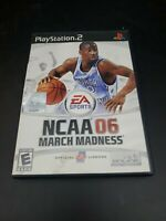 NCAA March Madness 06 (Sony PlayStation 2, 2005) PS2 Game Complete With Manual