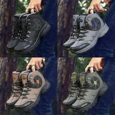 Mens High Top Waterproof Hiking Trekking Climbing Boots Outdoor Large Size Shoes