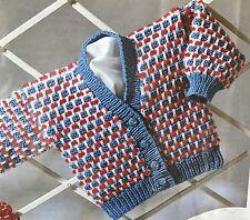 """Ck18 Knitting Pattern-Dk Bébé Cardigan - 18 [20 22]"""""""