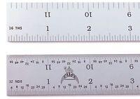 """Blem Cosmetic Second PEC 24"""" Rigid Satin 4R machinist ruler 1/8,1/16,1/32,1/64"""