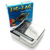1x Zig Zag Automatic Cigarette Tobacco Smoking Rolling Machine Case Tin Box