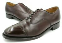 Johnston & Murphy Aristocraft, Cap Toe Oxfords Mens Size 9.5 C, Burgundy Leather