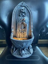 "RARE Reaper Light Up Bleeding water fountain made of Resin 15"" Tall"