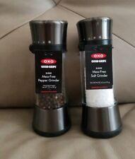 OXO Good Grips 'Lua' Manual Salt and Pepper Mill Set Gunmetal NEW !