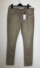 TOPSHOP £40 Skinny Baxter Jeans light brown trousers UK16 W34 L34 new with tags