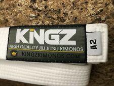 Jiu Jitsu Belt - White-  Kingz Brand - size A2