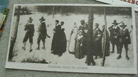 Vintage 1916 Print Pilgrims Going To Church