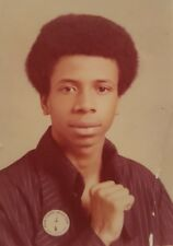 VINTAGE AFRICAN AMERICAN BLACK POWER STUDENT UNITED BUTTON CHICAGO IL RARE PHOTO