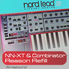 NORD LEAD 2 REASON REFILL 179 NNXT & COMBINATOR 3229 SAMPLES 24bit PC MAC