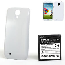 Samsung Galaxy S4 Extended Battery 6400mAh Phone Replacement Battery White Cover