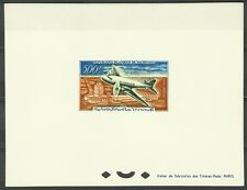 MAURITANIE AVIATION AVION AIR MAURITANIA EPREUVE DELUXE DIE PROOF ESSAY ** 1963