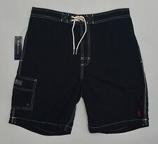 Men's POLO RALPH LAUREN Black Swimsuit Trunks L Large NWT NEW Nice! 4179666