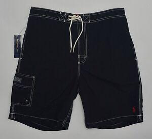 Men's POLO RALPH LAUREN Black Swimsuit Trunks Small S NWT NEW Nice! 4179666