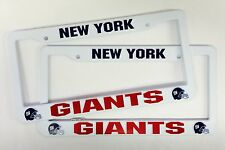 2 New York NY GIANTS License Plate Frame NEW Auto Truck FREE USA SHIPPING