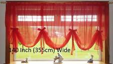 PLAIN VOILE TIE BLINDS EXCLUSIVE 8 DIFFERENT WIDTHS MADE IN UK + FREE UK POSTAGE
